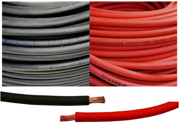 2 gauge wire in a cable for batteries, welding and so on