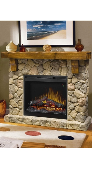 Best Freestanding Electric Fireplace (Pine And Stone) Dimplex SMP-904-ST Fieldstone