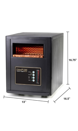 EdenPURE CopperSMART Best Overall Space Heater For Large Rooms with specifications