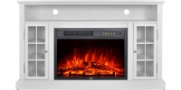 GMHome EF-30AKF White electric fireplace mantel
