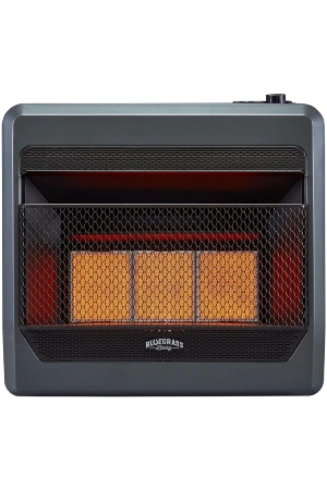 Good Vent Free Propane Heater With Thermostat And Blower: Bluegrass B30TNIR-BB