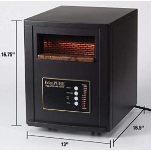 Most Energy Efficient Space Heater EdenPURE CopperSMART (24 Temp. Modes)