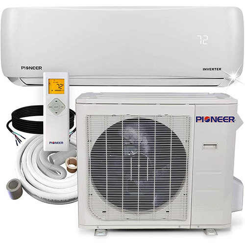 Pioneer WYS024GMFI17R heat pump with cables and remove thermostat