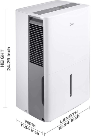 MIDEA Dehumidifiers: Quietest Energy-Efficient Dehumidifiers.