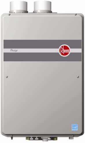 rheem is the best american tankless gas water heater producer, here is their best device, the RTGH-95DVLN