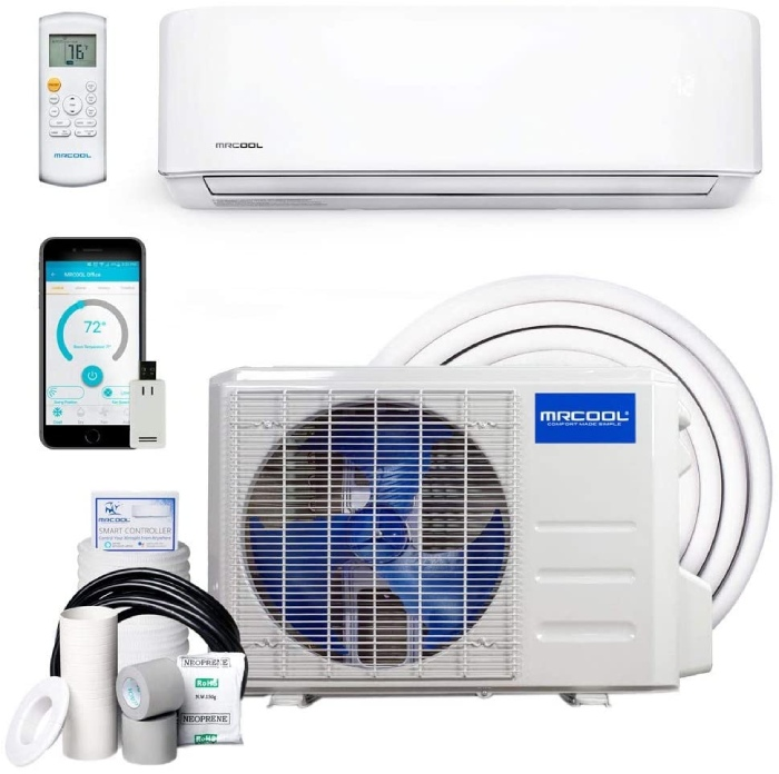 MrCool DIY ductless ac for garage