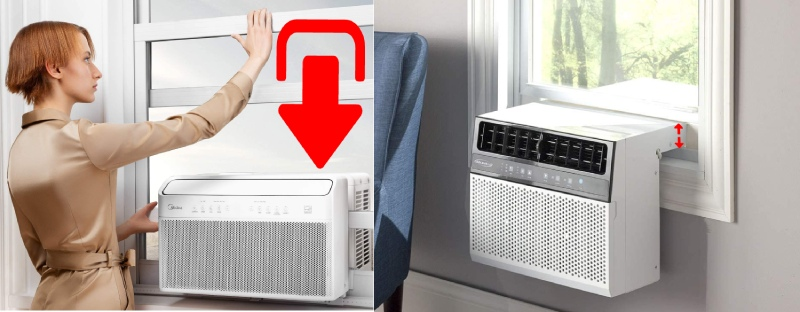 differences between saddle u shaped air conditioners and conventional window air conditioners