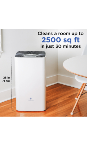 big room air purifier with 2500 square feet coverage area