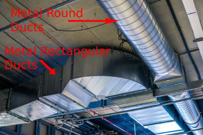 cfm duct sizing for round and rectangular ducts