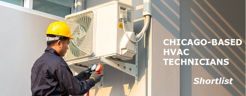 chicago hvac technician repairing an air conditioner