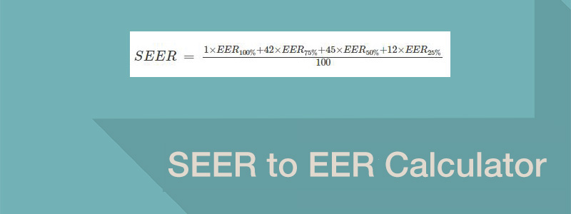 Seer To Eer Calculator Learnmetrics