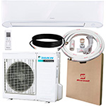 maxwell made daikin ductless mini split ac you can install yourself with the help of the wall unit, compressor and the refrigerant line 15 feet long