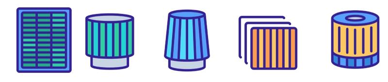 square and circular hepa filters