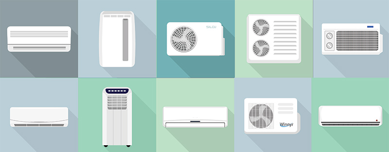 10 types of ac units in two rows
