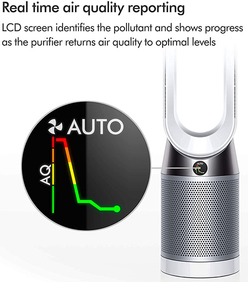indoor air quality sensor on dyson tp04 pure cool air purifier
