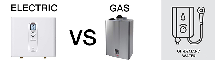 comparison of electric vs gas tankless water heaters