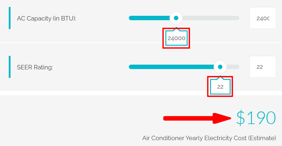 how much more energy efficient is 21 seer rating mini split air conditioner