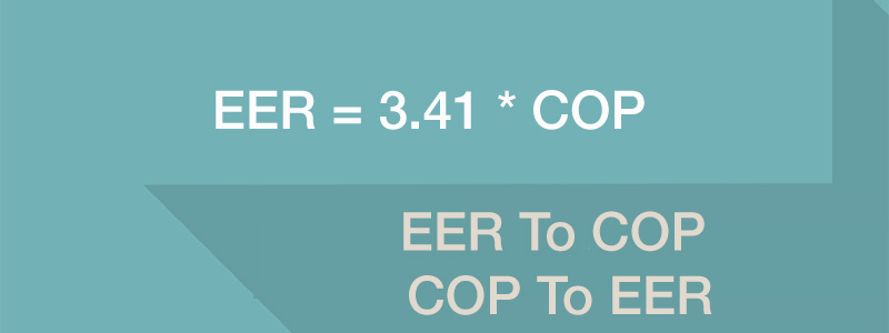 formula that converts eer to cop and cop to eer