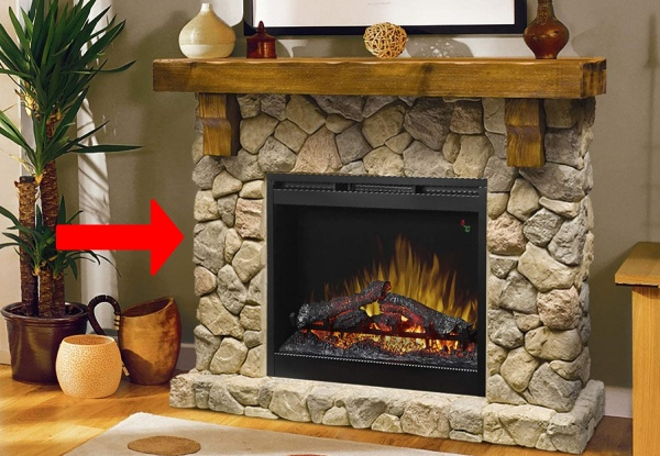 freestanding electric fireplace type