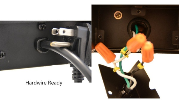 hardwire electric fireplace element