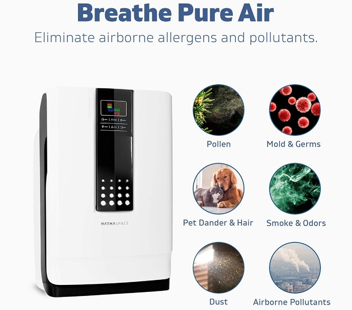 advantages of using hathaspace air purifier to improve indoor air quality with the use of True HEPA filter