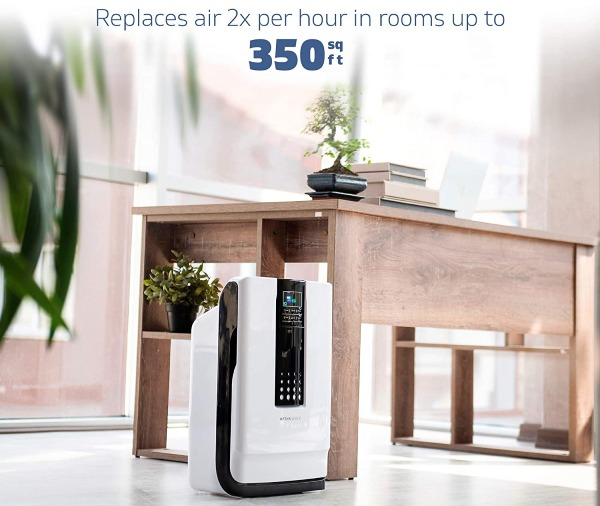 coverage area of hathaspace HSP001 air purifier for small rooms