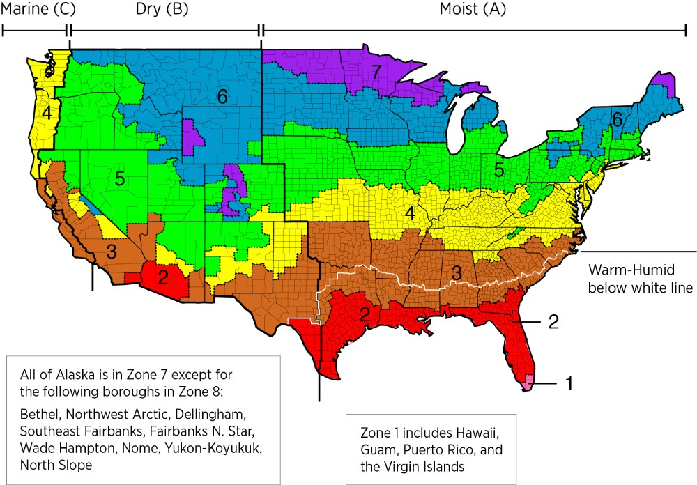 heating btu us climate zones for calculating heating btu requirements per sq ft