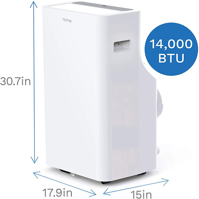 dimensions of homelabs portable air conditioner