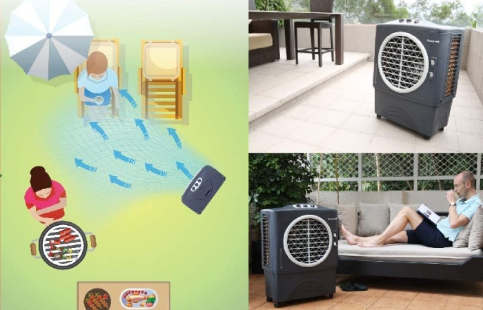 how do outdoor air conditioners work