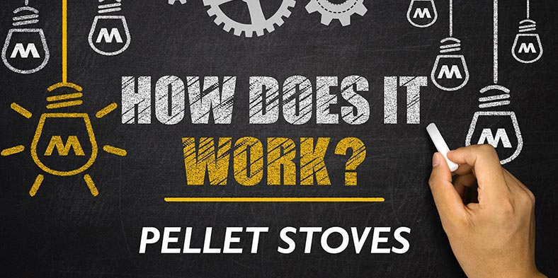 step by step explaination of how pellet stoves work