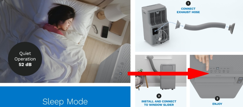 how to install a quiet portable air conditioner