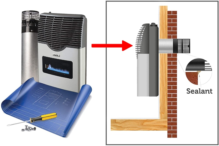 how to install a ventless propane heater
