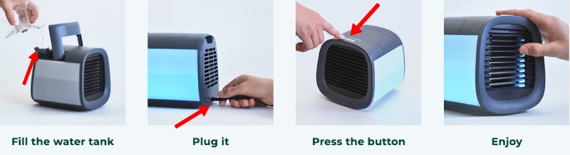 how to use a mini air conditioner