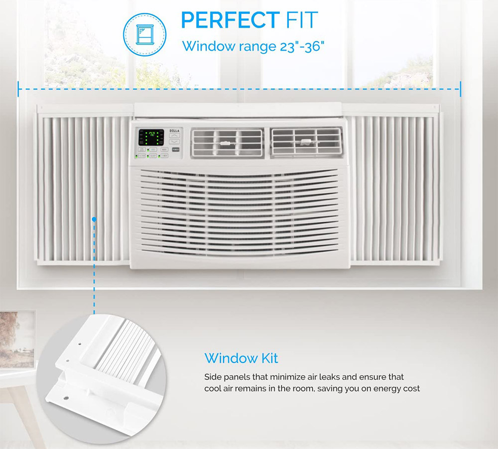 how to mount a window ac unit that is shorter than the length of the window