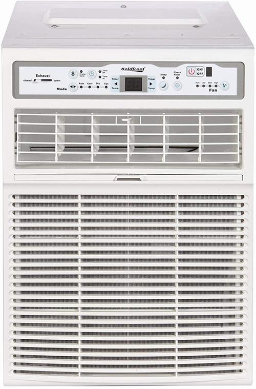front side of the vertical window ac unit by koldfront model CAC10000W