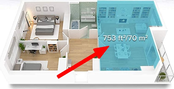 large room humidifier coverage areas