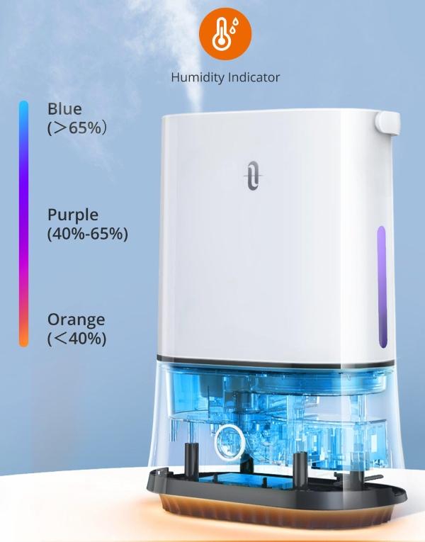 large room humidifier humidity indicator