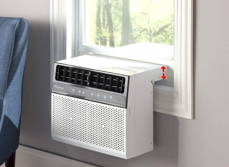 soleus air over the sill lowest profile air conditioner