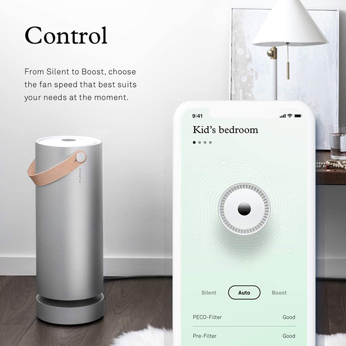 wifi enabled Molekule Air purifier for larger rooms
