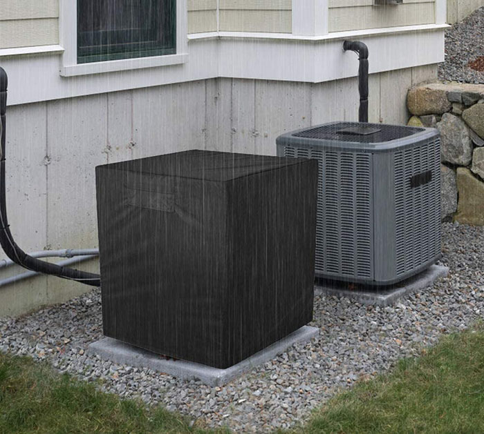 central air conditioner unit in the yard