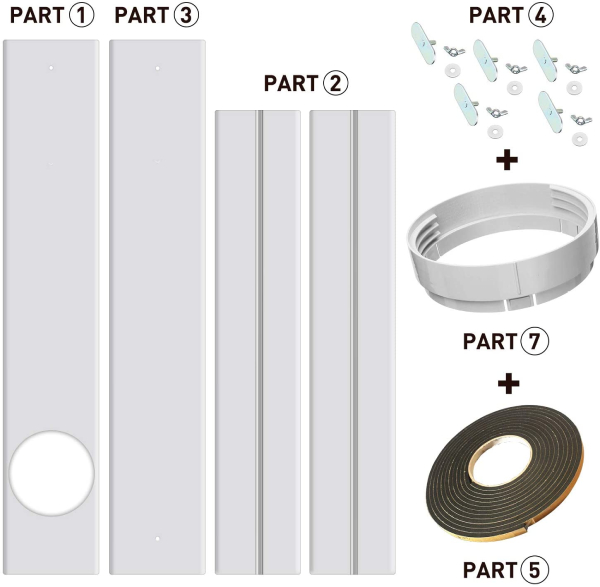 parts of window seal bracket kits for portable air conditioners