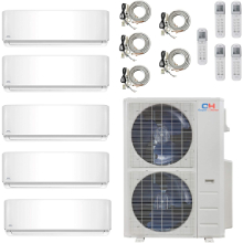 COOPER AND HUNTER 5 Zone Ductless Mini Split With Wifi