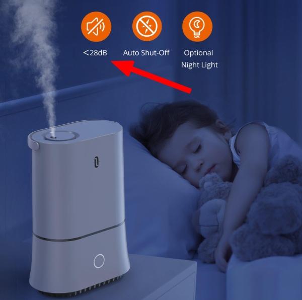 quietest large bedroom humidifier