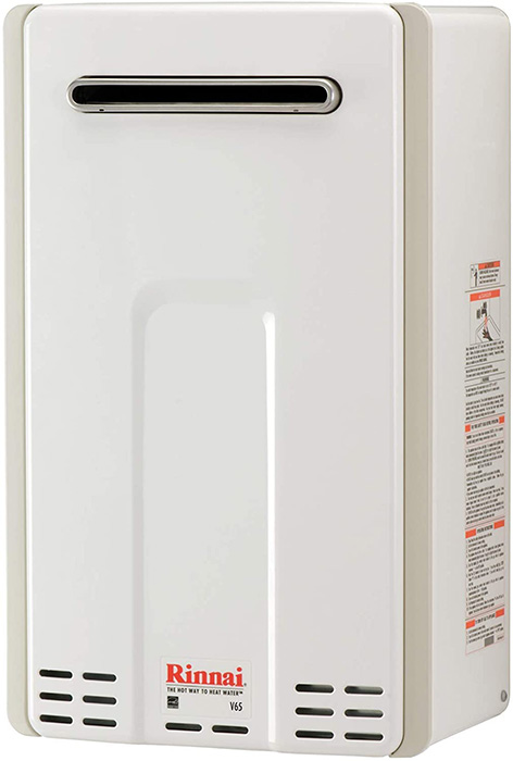 standard natural gas and propane tankless water heater rinnai v series HE v65en