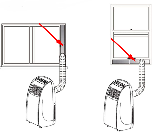 seal for vertical and horizontal windows for air conditoning