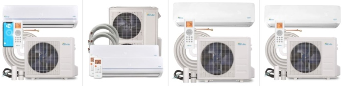 reviews of 4 best senville ductless mini split air conditioners and heat pumps