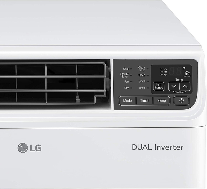 wifi timer clean filter and sleep settings on LG LW1019IVSM window air conditioner