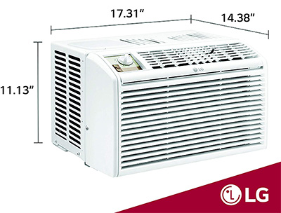 very small LG window air conditioner for small rooms