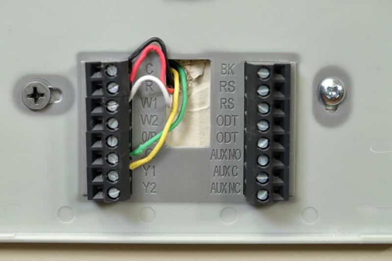 honeywell thermostat wiring