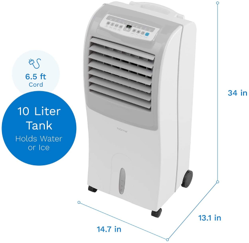 ventless air cooler with ice tank
